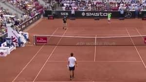 'Nazi' Supporter Interrupts Swedish Open Tennis Match