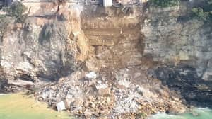 Hundreds Of Coffins Tumble Into Sea After Landslide Causes Cliffside Cemetery To Collapse