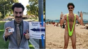 Sacha Baron Cohen Returns As Borat To Vote In US Midterm Elections