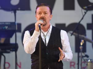 Ricky Gervais Performs As David Brent At His Movie Premiere