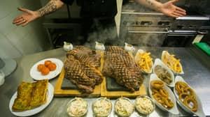 Restaurant Serves Up 200oz Steak That Weighs More Than A Newborn Lamb