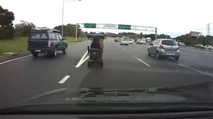 Moment 92-Year-Old Drives Mobility Scooter Along Busy Motorway Before Telling Motorist To F**k Off