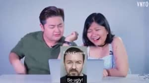 Ricky Gervais Reacts To Video Of Person Calling Him 'So Ugly'