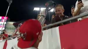 Tom Brady Takes Mid-Game Break To Gift His Hat To Boy Who Beat Brain Cancer