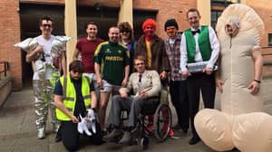LADs Dress Up As The Whole Of The 'Phoenix Nights' Cast For A Night Out