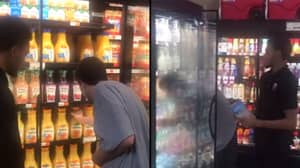 Heartwarming Moment Grocery Worker Stays Patient With Autistic Man And Lets Him Stock Shelves
