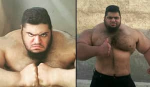 The 'Iranian Hulk' Is 24 Stone Of Muscle And One Scary Bloke