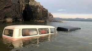 Woman's £60,000 VW Camper Swallowed Up By Tide