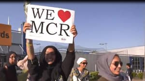 Hundreds Of Muslims Take Part In A March To Manchester Arena