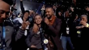 Selfie Kid Steals Show During Justin Timberlake's Super Bowl Performance
