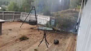 Guy Sh**s Himself When Lightning Strikes Very Close To His Home