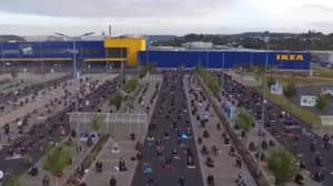 Hundreds Of Muslim Worshippers Gather In Ikea Car Park For Eid Prayers