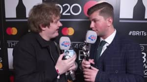 Lewis Capaldi Presented With His Own Range Of Condoms At BRIT Awards