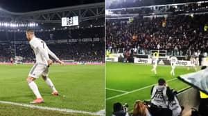 """Entire Juventus Stadium Scream """"SIUUUUUU"""" When Cristiano Ronaldo Celebrates vs SPAL"""