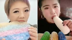 China Is Going Crazy For 'Ice Crunch' Videos Of People Chewing Ice Blocks