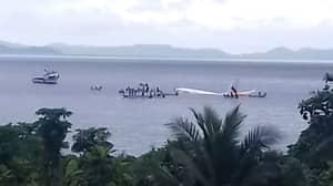 Plane Crash Lands Into The Ocean