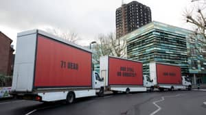 Activists Channel 'Three Billboards' Film With Messages Outside Grenfell Tower