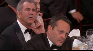 Mel Gibson And Vince Vaughn Looked Pissed Off At Meryl Streep's Golden Globes Speech
