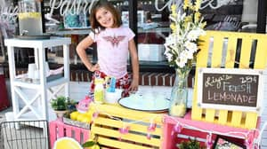 Seven-Year-Old Girl Sells Lemonade To Help Fund Her Brain Surgeries