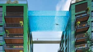 World's First Floating Sky Pool Where You Can Swim 115ft Above London Opens Next Month