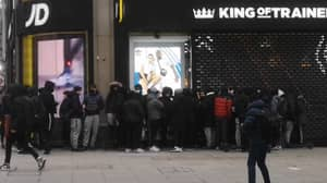 People Baffled By Size Of Queue Outside JD Sports As Shops Reopen