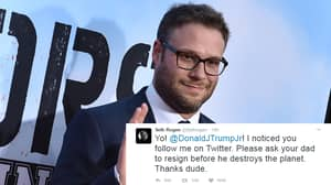 Seth Rogen Slid Into Donald Trump Jr's Dms With Message For The President