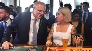 Scott Morrison Talking To Woman At The Pub Has Become The New Nightclub Meme