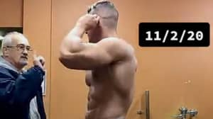 Man Shows Off Body One Year After Telling Bodybuilder He'll Be Bigger Than Him