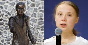 Life-Sized Statue Of Greta Thunberg Unveiled At UK University