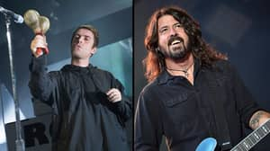 Liam Gallagher Crowd Surfs After Playing Beatles Song With The Foo Fighters