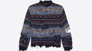 Balenciaga Is Selling A 'Destroyed' Jumper For £1,150