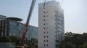 Construction Workers In China Build 10-Storey Apartment Block In Less Than 29 Hours
