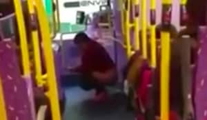 A Woman Has Been Filmed Pooing On A Bus