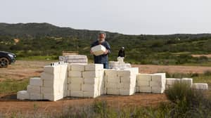 Artist Building A Cheese Wall On Mexican Border To 'Make America Grate Again'