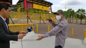 Ecuadorean TV Presenter Held At Gunpoint Moments Before Going On Air