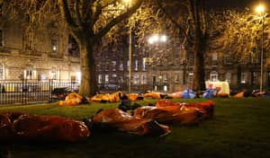 I Slept Outside To Raise Funds For A Homeless Village in Edinburgh