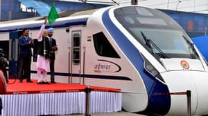 India's New High Speed Train Breaks Down On First Trip After Hitting Cow