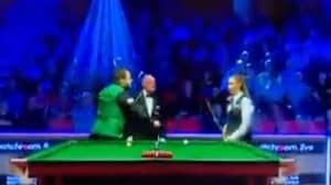 Snooker Players Who Broke Up Produce Awkward Moment In Game Against Each Other