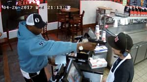 Employee Has The Most Chilled Reaction To Having A Gun Pulled On Him