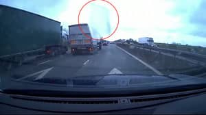 Video Captures Moment Ice Smashes Through Car Windscreen On The Motorway