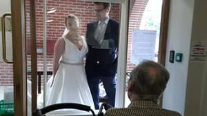 Bride Travels 200 Miles On Wedding Day To Surprise Grandad At Care Home