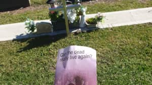 Aussie Fuming After Finding Jehovah's Witnesses Flyer On Brother's Grave