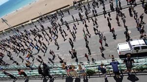 Thousands Line Brighton Seafront For 'Peaceful' Black Lives Matter Protest
