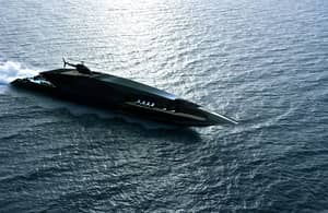 Look At How Sick This New Black Superyacht Is