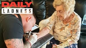 Great Gran Believed To Be Oldest Woman In UK To Get Tattoo At 94