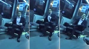WATCH: Armani-Wearing Arsehat Confronts A Bus Driver Over His Job