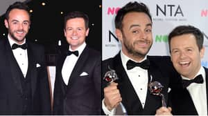 Ant McPartlin Trolls Best Mate Dec On His Birthday With Hilarious Picture Of Him Posing With Dress