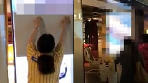 IKEA Store Accidentally Plays Adult Movie On Big Screen