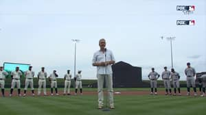 Kevin Costner Leads Yankees And White Sox Into Cornfield For Field of Dreams Game