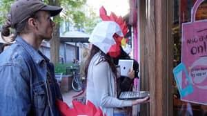 Vegan Activists Protest Outside Nando's Wearing Chicken Masks